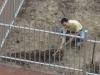 Loïc en train de préparer le terrain